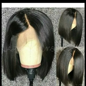 Brown/Black 100% virgin human hair,lacefront wig
